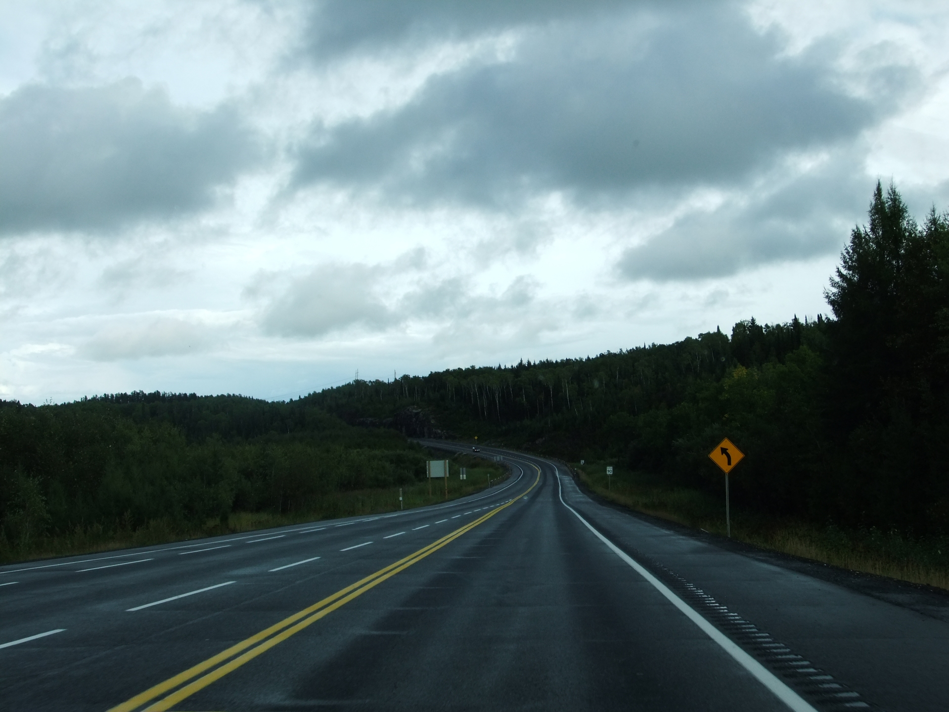 Road and forest in Ontario