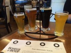 Beer flight at Howells & Hood