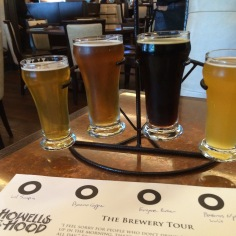 Beer flight at Howells & Hood