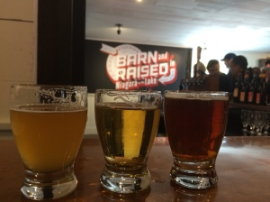 Delicious Oast House beer! (L to R: Hootenanny, Oost and