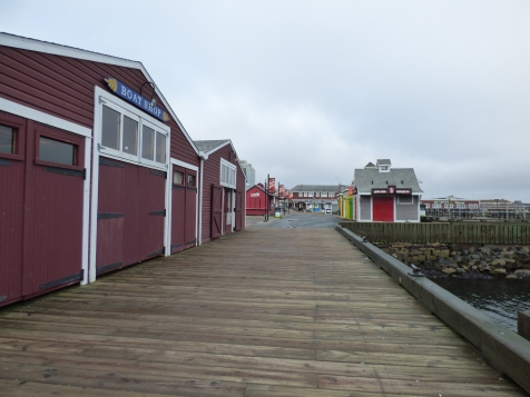 The boardwalk - all boarded up for winter!