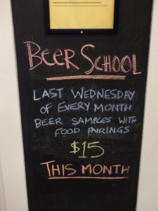 Auction House even has Beer School on the last Wednesday of every month! Only $15!