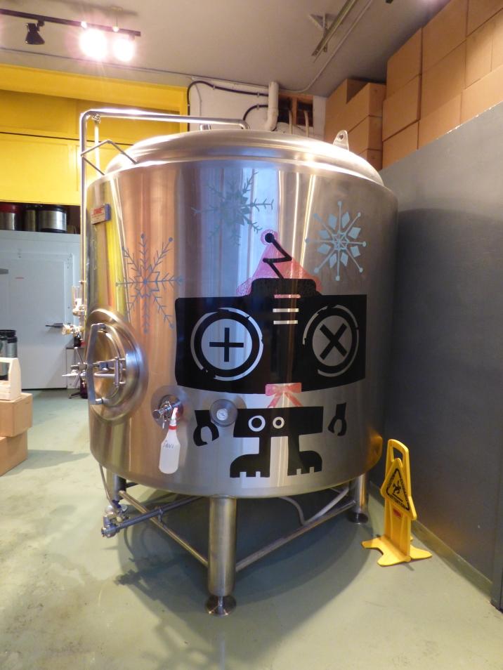 Beer vat at Good Robot - so cute!