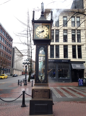 Gastown Steam Clock - minus the tourists.
