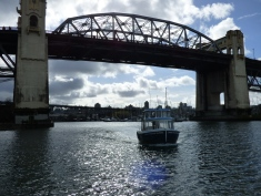 Our sweet little ride to Granville Island.