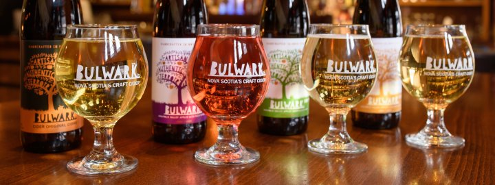 The full line-up of Bulwark ciders